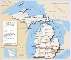 Road Map Of Michigan Reference Map Of Michigan Usa And Of Michigan Cities Map Of