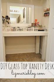 Glass Vanity Table Amazing Glass Makeup Vanity Table With Diy Glass Top Makeup Vanity