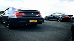 porsche 911 turbo sound bmw m6 vs porsche 911 turbo 997 drag race acceleration sound