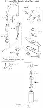 kitchen sink faucet parts diagram plumbingwarehouse com price pfister repair parts for model 529