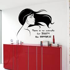 hair salon wall decals beauty cosmetic happiness woman wall zoom