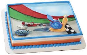 disney u0027s turbo snail birthday cake and cupcake ideas on a budget