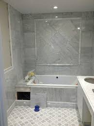 Gray Tile Bathroom Ideas Stunning Decorating Ideas Using Rectangular White Mirrors And
