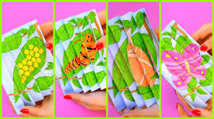 agamograph butterfly life cycle paper crafts for kids youtube