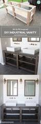 diy industrial farmhouse bathroom vanity restoration hardware