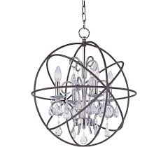 Maxim Chandeliers Maxim 25142arpn Orbit 4 Light Black Chandelier Lighting