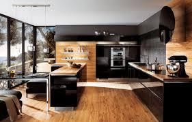photo cuisine en bois deco noir et bois finest stunning deco cuisine blanc et bois images