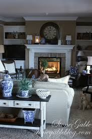 adding blue and white to winter decor stonegable