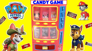 paw patrol candy game with surprise toys u0026 candy bars educational
