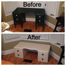 cut down an old desk turn it into a bench make home