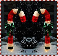 Large Outdoor Christmas Decorations by Giant Outdoor Candy Cane Decorations Lighted Outdoor Candy Cane