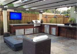 Covered Outdoor Kitchen Designs by Ipe Wood Stainless Pergola Grey Counter Want Soapstone Dark