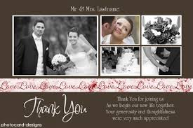 modern wedding picture thank you cards collage color