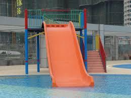 water park vertical water slide for kids swimming pool