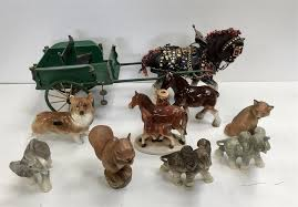 ornaments to include dogs elephants purbeck fox and squirrel