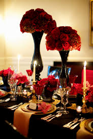 red and black wedding reception centerpieces decorating of party
