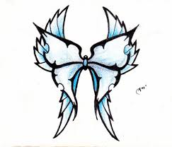 here is a color d version of the tribal butterfly side view