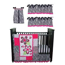 Pink Zebra Crib Bedding Trend Lab Baby Crib Bedding Set 6 Pc Zahara Zebra Sam S Club