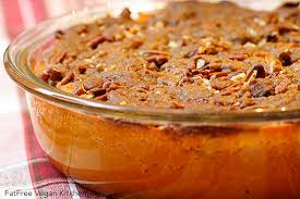 sweet potato casserole with pecan topping recipe from fatfree