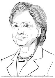 learn how to draw hilary clinton politicians step by step