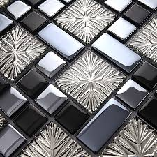 mosaic tile designs metal coating mosaic tiles art design glass tile bedroom kitchen