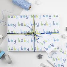baby boy wrapping paper new baby boy wrapping paper set by studio 9 ltd