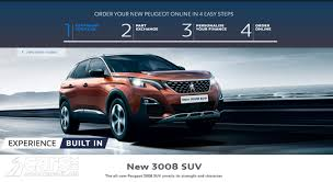 new peugeot new peugeot sales in the uk now online with