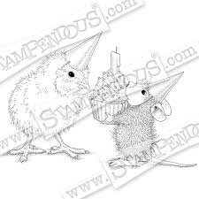 house mouse birthday card by pam bray stampendous