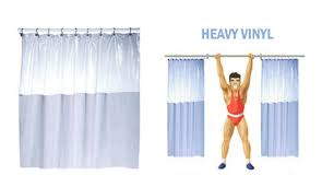 Vinyl Drapes How To Stop Your Shower Curtain From Blowing In Thick Heavy