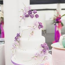 wedding cakes near me purple wedding cakes planinar info
