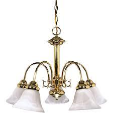 Alabaster Lighting Chandeliers Glomar Sophrosyne 5 Light Polished Brass Chandelier With Alabaster