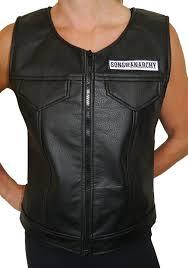 leather vest women u0027s sons of anarchy faux leather vest