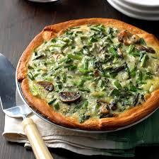 mushroom asparagus quiche recipe taste of home