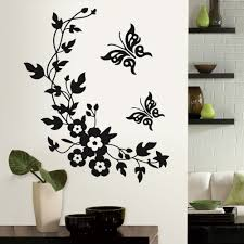 Wall Flower Decor by Aliexpress Com Buy New Butterfly Flower Vine Bathroom Wall