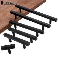 black modern kitchen cabinet pulls runbazef cabinet pulls black modern square t bar diamter kitchen bathroom cupboard chest drawer handles and knobs hardware