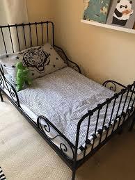 bedding toddlerkids ikea minnen bed black with mattress in