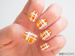 3 classic plaid nail designs