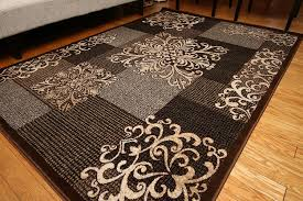 Modern Wool Area Rugs Feraghan New City Feraghan4031brown 8x11 Contemporary