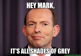 Hey Meme - hey mark it s all shades of grey tony abbott meme aussie memes