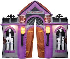 gemmy halloween inflatable mortuary haunted house archway u2013 great