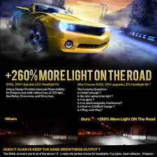 lexus warning lights and meanings amazon com sngl super bright led headlight conversion kit