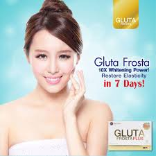 Gluta Frosta Plus Malaysia restore your skin elasticity and boost your 10x whitening power with
