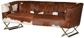 Cow Leather Sofa Buy Loft 3 Seater Cow Hide Sofa Cfs Uk