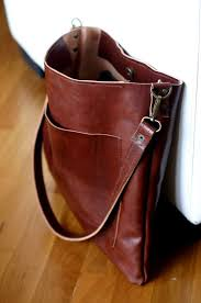 Handmade Leather Tote Bag - leather shoulder bag unisex leather tote handmade bag