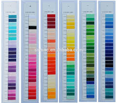 brand new polyester embroidery thread color chart rayon color card