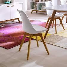 Lederstuhl Esszimmer Design Retro Stuhl Vanity In Weiß Eiche Für Ihr Esszimmer Wohnen De