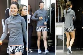 pippa middleton shows off her toned legs in tiny shorts as she