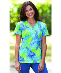 s rounded neck scrub top print tops cheap barco scrubs