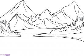 simple drawing of landscape how to draw a simple river landscape