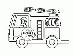 small fire truck coloring page for toddlers transportation